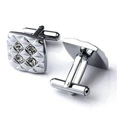 Zysta Stainless Steel Classic Men's Cufflinks,Silver Rhombus with Clear Crytals Zysta http://www.amazon.com/dp/B0157LVV86/ref=cm_sw_r_pi_dp_xiLlwb1ZZB3SH