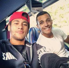 Neymar & Alexis Sanchez (I am going to die from the hotness... ;) )