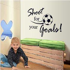 あなたの目標のために撮影サッカーの壁のステッカーの子供の部屋のインテリアpvcビニールリムーバブルアートスポーツ男の子の壁画の家の装飾