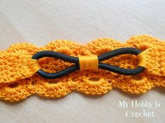 My Hobby Is Crochet: Thread headband- free pattern and tutorial