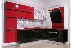 Pin By Akemy Slyter S On Casa Black Kitchen Decor Red Kitchen Decor Black Red Kitchen