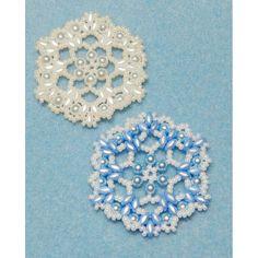 Snowflake 6 Beaded Ornament Pattern - Bead Patterns by Michelle Skobel