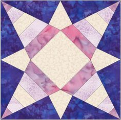 Geometric Star 5 Stripes Paper Piece Template Quilting Block Pattern PDF by HumburgCreations on Etsy
