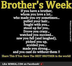 Totally miss my brother Chris.