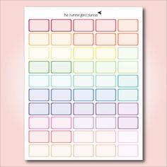 Pastel Bordered Half Boxes Printable by HummingbirdPlanner