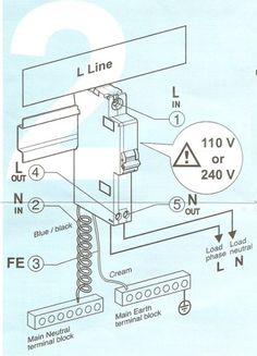 How to connect RCBO to the distribution board