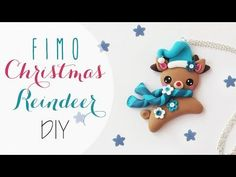 Tuto: Renna natalizia in Fimo - ENG SUBS Fimo clay Christmas Reindeer diy Christmas Donuts, Diy Christmas Ornaments, Christmas Elf, Clay Ornaments, Christmas Gingerbread, Biscuit, Reindeer Cupcakes, Polymer Clay Christmas, Fimo Clay