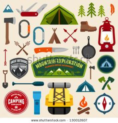 Adorable Camping Vectors from Shutterstock
