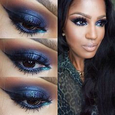 We're head over heels for @MakeupShayla's sexy, glamorous look using #Sugarpill Magpie and Lumi eyeshadows!