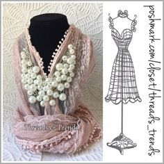 Pretty In Pearls Layered Necklace Get your girly girl on with gorgeous Pearl clustered layered necklace on a silver adjustable chain. Threads & Trends Jewelry Necklaces