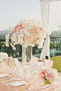 Blush tones and white orchids ~ Onelove Photography, Dolce Design | bellethemagazine.com