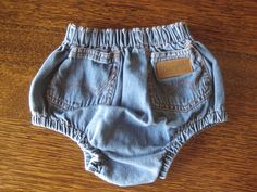 vintage wrangler denim bloomer diaper cover baby by NashtyVintage, $19.99