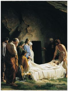 When the even was come, there came a rich man of Arimathaea, named Joseph, who also himself was Jesus' disciple. He went to Pilate, and begged the body of Jesus. Then Pilate commanded the body to be delivered. When Joseph had taken the body, he wrapped it in a clean linen cloth, and laid it in his own new tomb, which he had hewn out in the rock, and he rolled a great stone to the door of the sepulchre, and departed. Matthew 27:57-60