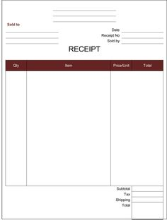 tax receipt template word doc for free the proper receipt format