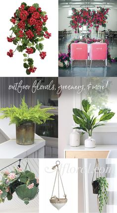 Outdoor Florals, Greenery & More at Afloral.com.  Decorate your home with artificial plants that will last through the changing seasons.