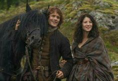 The Frasers: Jamie Fraser (Sam Heughan) and Claire Randall (Caitriona Balfe)