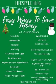 A list of some easy ways to help you save money at Christmas. #blogmas #christmas #savemoney