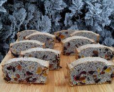 Otthoni sütés-főzés: Aszalt gyümölcsös-mákos püspökkenyér Bread, Desserts, Food, Tailgate Desserts, Deserts, Eten, Postres, Dessert, Bakeries