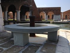 """These are wonderful pieces of urban furniture made for the event """"Biennale"""" in Venice. Great shapes and textures for unique products which combines modernity and tradition."""