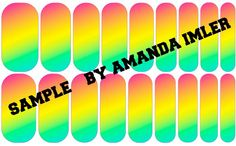 Over the Rainbow Custom Jamberry wraps by Amanda Imler #jamberrynails #nailartstudio