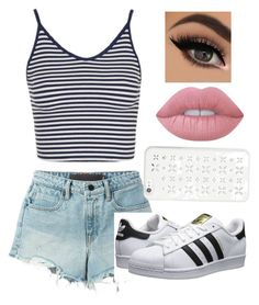 """Untitled #40"" by mily-tran on Polyvore featuring Topshop, Alexander Wang, adidas Originals, Lime Crime and MICHAEL Michael Kors"