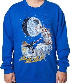 My boyfriend doesn't know it yet but he is definitely getting this for Christmas....STAR WARS Christmas sweater.