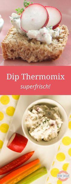 Das beste Thermomix Dip Rezept auf Deutsch: Der superfrische Radieschen-Kresse-Dip mit Frischkäse. http://www.meinesvenja.de/2011/07/24/es-ist-weit-gekommen-ich-backe-brot-selbst/