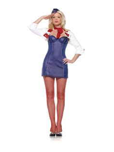 Mile High Flight Attendant Stewardess Costume Flight Attendant Fancy Dress 319071a31