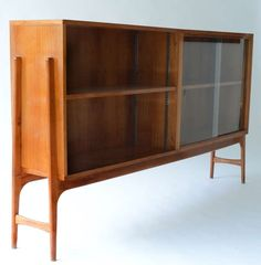 Alfred Hendrickx; Cherry and Glass Cabinet by Belform, 1956.