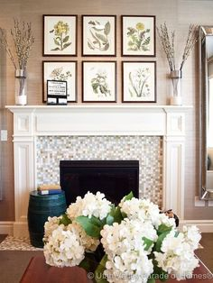 I love this fireplace - it really catches your eye especially with the tile design!