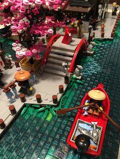 Traditional Japanese Harbour | SpaceBrick | Flickr Lego Ninjago City, Lego City, Lego Bridge, Lego Studios, Lego Village, All Lego, Lego Lego, Lego Display, Lego Sculptures