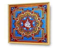 #SARASWATI_YANTRA - #ENERGETISCHE_Kunst von #Art_Heil_Studio #Dr_Mariia_Bohach (#MariRich) #kunst #malerei #regenbogen #jubilaum #muttertag #mandala #yantra #geschenk #geburtstag #meditation #art_therapie Meditation, Mandala, Etsy, Vintage, Studio, Frame, Home Decor, Art Therapy, Rain Bow