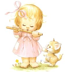 Zenélő kislány