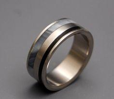 $300 Titanium wedding ring wedding ring titaniun by MinterandRichterDes