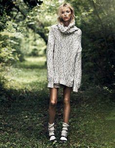 anja, rubik , vogue, paris, lachlan , bailey, geraldine, saglio, knit, wear, fashion, editorial, oracle, fox
