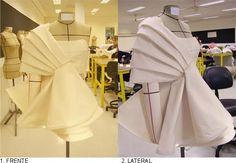 QUARTO PASSO:  A solução de acabamento foi fazer um forro para a saia e deixar as laterais abertas para que facilitasse na montagem do look...