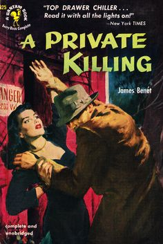 A PRIVATE KILLING | vintage hardboiled mystery pulp cover art