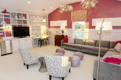 Teen rec room/ bedroom complete with a craft station and lots of room for friends :: New Homes in Dublin - Kavanagh - M/I Homes Columbus