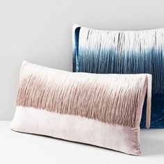 Our Lush Velvet Tassel Pillow Cover lives up to its name with a rich, saturated color and lustrous sheen, while the tassel feature adds a touch of playfulness to your bed or sofa. Offering the look and feel of luxe silk velvet, but at a fraction o… Velvet Pillows, Bed Pillows, Glam Pillows, Modern Pillows, Floor Pillows, Pillow Set, Pillow Covers, Pillow Talk, Cushion Covers
