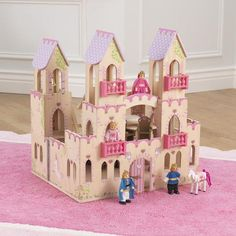 KidKraft Princess Castle - 65259 - Your little one will feel right at home with the KidKraft Princess Castle . This friendly castle is full of details for your little prince or princess. Castle Dollhouse, Dollhouse Kits, Patio Blocks, Princess Castle, Wooden Dolls, Queen, Dollhouse Furniture, Fun Projects, Playroom