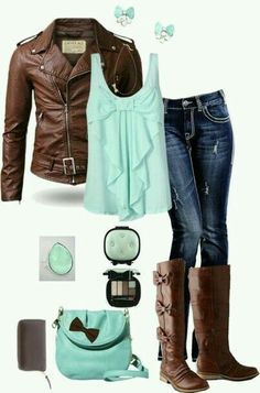 Whole mint outfit
