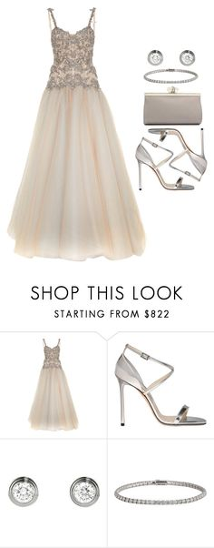 """Sin título #12144"" by vany-alvarado ❤ liked on Polyvore featuring Marchesa, Jimmy Choo and Cartier"