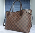 #goldearrings - Authentic Louis Vuitton LV Damier Ebene Canvas Neverfull PM Tote Bag Purse MIF - http://pinfollow.me/categories/womens-fashion/designer-handbags-purses/authentic-louis-vuitton-lv-damier-ebene-canvas-neverfull-pm-tote-bag-purse-mif/