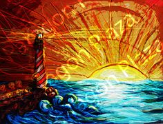 Alluring Lighthouse by ParagonPlaza on Etsy, $11.50