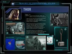 shield personnel files thor - Google Search