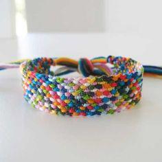 Nordic Rag Rug, Woven Friendship Bracelet Wish Bracelets