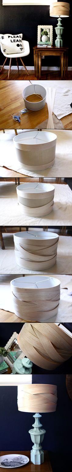 DIY : Woven Balsa Wood Lampshade