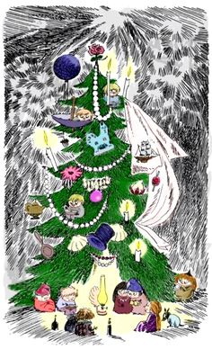 Tove Jansson, The Fir Tree del libro Tales from Moominvalley, 1962.  http://www.yekibud.es/el-regalo/