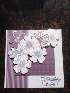 Birthday Card using Stampin Up  Flower Shop stamp set.