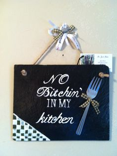 Small Hanging Decorative kitchen slate